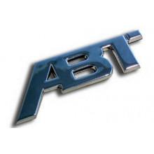 logo ABT nápis nalepovací chrom