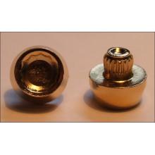 imitace šroubu pozlacené vnitřní torx ocelové hlava 12mm