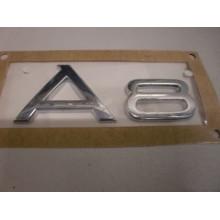 logo znak Audi A8 nápis A8 zadní nalepovací