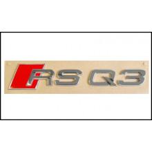 logo znak Audi Q3 nápis RSQ3 zadní