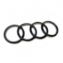 logo znak Audi kruhy černé přední maska Audi A3 A4 A5 A7 Emblem Black Edition Logo