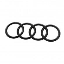 logo znak Audi kruhy černé do masky A6 S6 A7 A8 S8 Q2 Q8 RS6 RS7 black edition