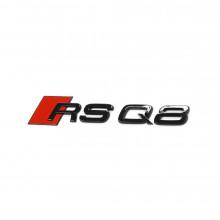 logo znak Audi Q8 nápis RSQ8 Exclusive Black Edition zadní