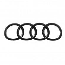 logo znak Audi A5 B9 F5 Sportback kruhy černé Black edition zadní nalepovací