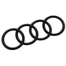 logo znak Audi A8 Q5 Q7 R8 kruhy černé Black Edition zadní nalepovací 20x7cm