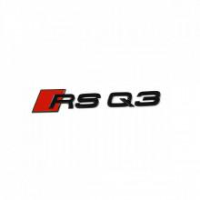 logo znak Audi Q3 nápis RSQ3 černý Black Edition zadní nalepovací