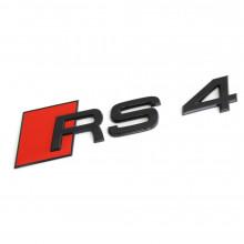 logo znak Audi A4 nápis RS4 černý Black Edition zadní nalepovací
