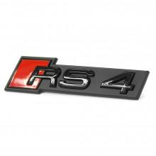 logo znak Audi A4 nápis RS4 černý Black Edition přední maska