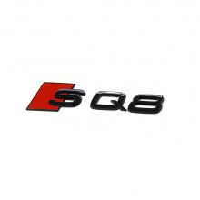 logo znak Audi Q8 nápis SQ8 černý Exclusive Black Edition nalepovací
