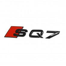 logo znak Audi Q7 nápis SQ7 4M černý Exclusive Black Edition nalepovací