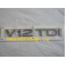 logo znak Audi Q7 nápis V12 TDI zadní nalepovací