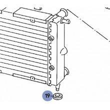 podložka VW Golf 1 Caddy Cabrio držák pod chladič