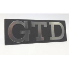 logo znak VW Golf 1 nápis GTD logo chrom do přední masky