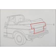 těsnění kufru VW Golf 1 Cabrio 155827705