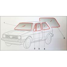 sklo boční bočnice VW Golf 1 barva čirá