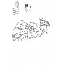destička držák zrcátka vnitřní VW Golf 1 Cabrio opravná sada