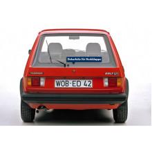 folie VW Golf 1 GTI zadní dveře kompletní