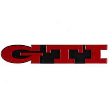 logo znak VW Golf 3 nápis GTI přední maska červený