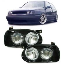 světla VW Golf 3 projector look Projektzwo look HELLA sada přední