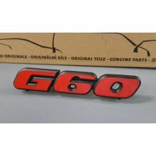logo znak VW Golf 2 nápis G60 červený přední maska 191853679NQN5