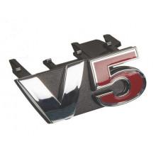 logo znak VW Golf 4 nápis V5 červené 5 přední maska