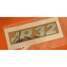 logo znak VW Golf 4 nápis R32 nalepovací zadní