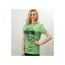 tričko H&R krátký rukáv s potiskem a logem H&R - zelené