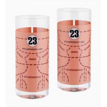 sklenice Porsche Set of long drink 917 Pink Pig