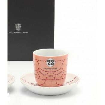 espresso Porsche sada šálků Porsche 917 Pink Pig design sběratelská edice