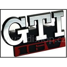 logo znak VW Golf 2 nápis GTI 16V přední maska
