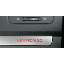 lišta VW Golf 5 hliník kartáčováno spolujezdec EDITION 30