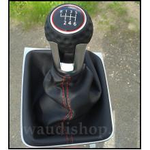 řadička VW volič GTI Golf 7 golfový míček kožená - černočervená