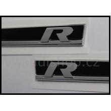 logo znak VW Golf 7 nápis R plaketa na blatník