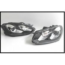 světla VW Golf 6 přední bi xenonová LED denní svícení GTI R R20