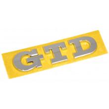 logo znak VW Golf 7 nápis GTD nalepovací zadní