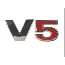 logo znak VW Golf 4 Passat BORA nápis V5 červené 5 nalepovací