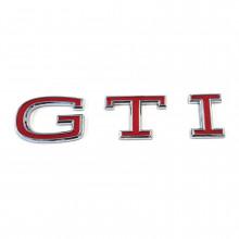 logo znak VW Golf 8 nápis GTI červený zadní nalepovací