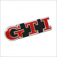 logo znak VW Golf 7 nápis GTI logo  červené přední maska