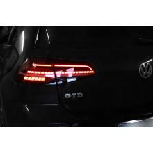 světla VW Golf 7 facelift zadní dynamické blikače kompletní sada