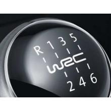 plaketa VW na řadící páku nápis WRC
