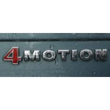 logo znak VW nápis 4Motion 4 Motion