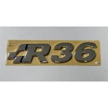 logo znak VW Passat 3C B6 nápis R36 zadní