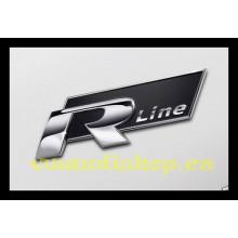 logo znak VW Golf 6 Passat 3C nápis Rline černé