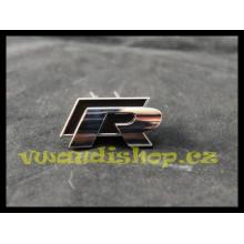 logo znak VW Golf 6 nápis R černé maska