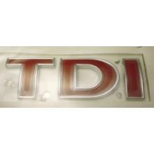 logo znak VW Golf 4 Bora Passat T5 nápis TDI celé červené