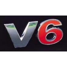 logo znak VW Golf 4 Bora Passat 3BG nápis V6 červené 6