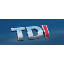 logo znak VW Golf 4 Bora Passat 3B 3BG nápis TDI stříbrnočervené