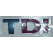 logo znak VW Golf 4 Bora Passat 3B 3BG nápis TDI stříbrnočervené stříbrné T