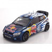 1:18 VW Motorsport Polo R WRC Race Car - Nr. 9 Mikkelsen