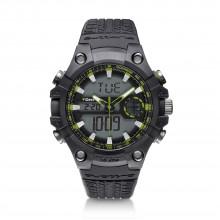 hodinky Audi quattro Outdoor grey green šedo zelené